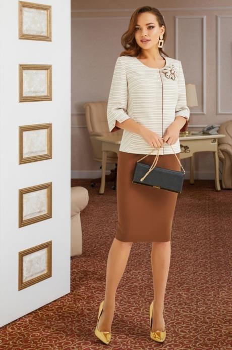 Lissana 3900 коричневым с молочным размер 46-50, описание, отзывы